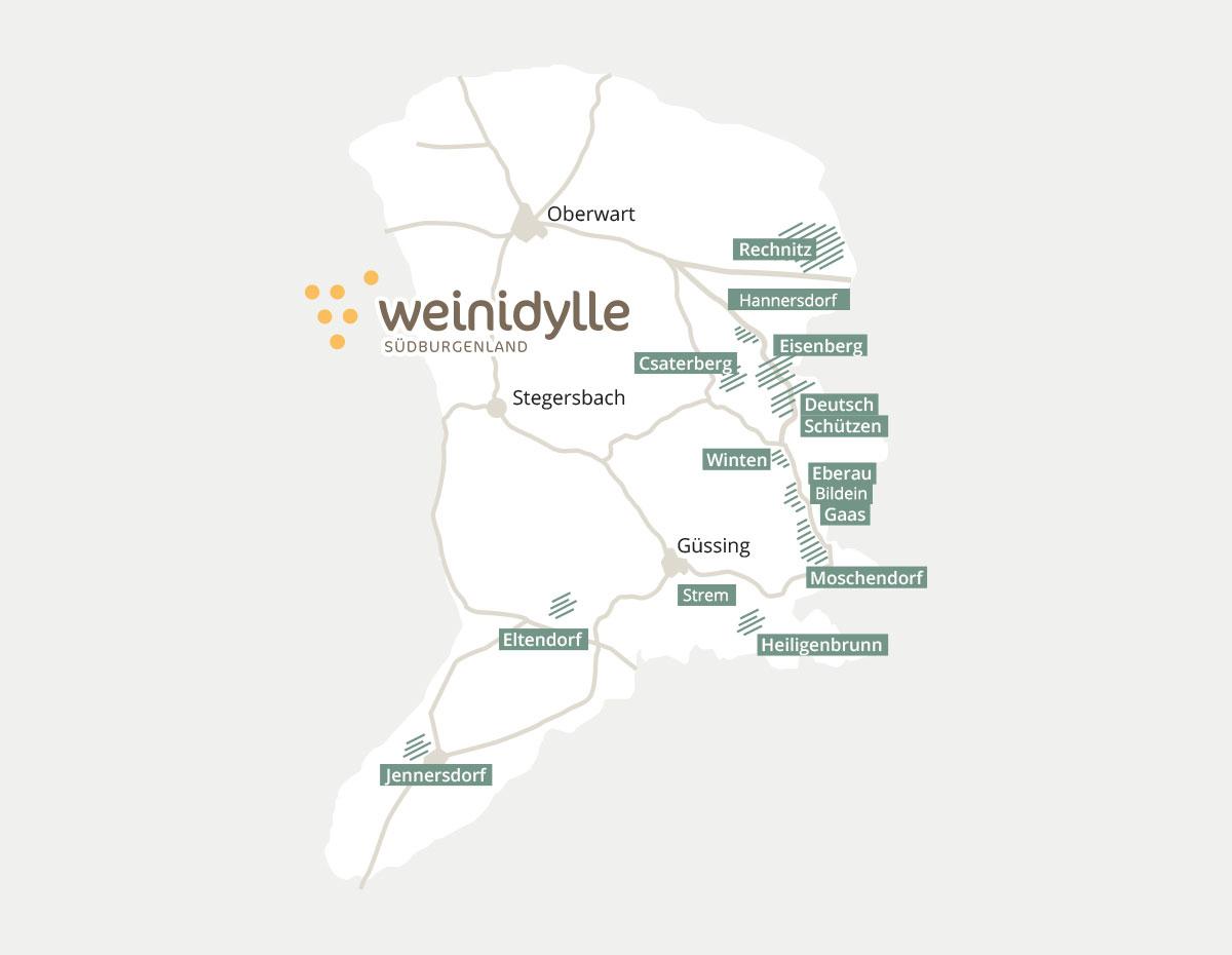 Karte Weinidylle